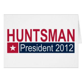 Presidente 2012 do caçador de Jon Cartão