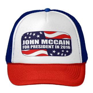 Presidente 2016 de John McCain Boné