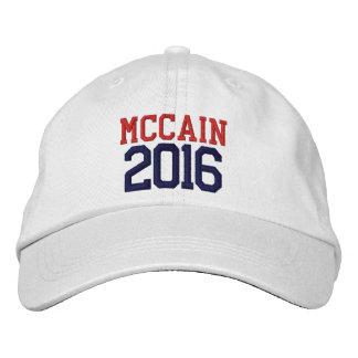 Presidente 2016 de McCain Boné Bordado
