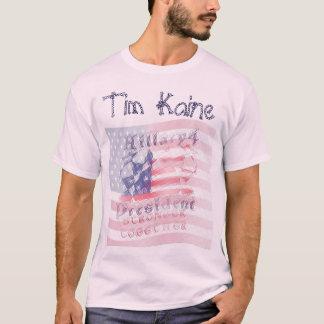 Presidente Americano de Tim Kaine EUA Hillary 4 Camiseta