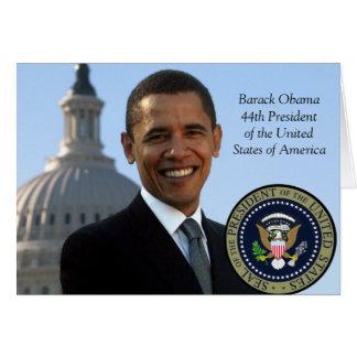 Presidente Barack Obama Cartão Comemorativo