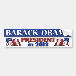 Presidente de Barack Obama em 2012 Adesivo Para Carro