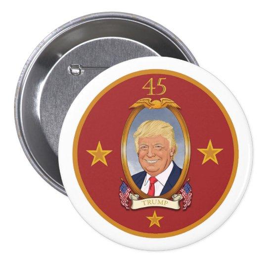 Presidente de Donald Trump 45th Bóton Redondo 7.62cm