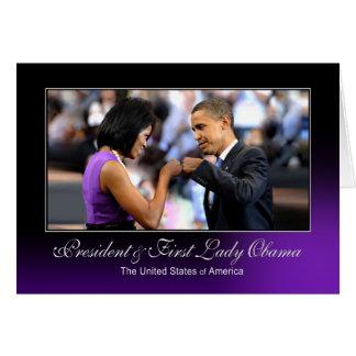 Presidente e primeira senhora Obama (colisão do Cartão Comemorativo