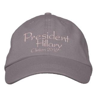 Presidente Hillary Clinton 2016 Bone Bordado