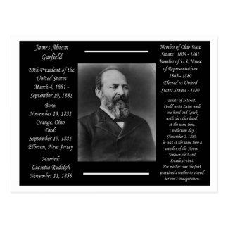 Presidente James Garfield Cartão Postal