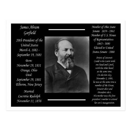 Presidente James Garfield Cartao Postal