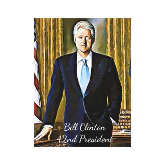 Presidente Lembrança Canvas Arte de Bill Clinton