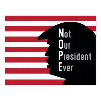 Presidente Nunca Cartão de NOPE não para fora