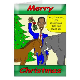 Presidente Obama do Feliz Natal Cartão Comemorativo