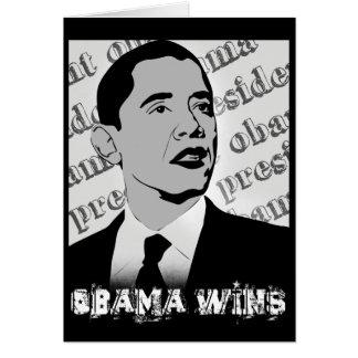 presidente obama - vitórias de obama cartão comemorativo