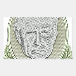 Presidente Trunfo Dólar Adesivo Retangular