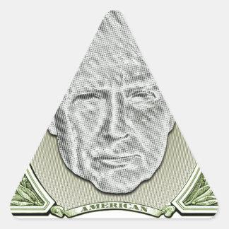 Presidente Trunfo Dólar Adesivo Triangular