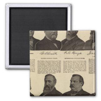 Presidentes E.U., autógrafos, biografias Ímã Quadrado