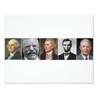 Presidentes passados convite 10.79 x 13.97cm