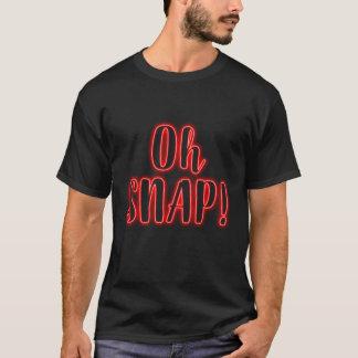 PRESSÃO do vermelho oh! Camisa de néon do fulgor T