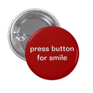 pressione o botão para o sorriso bóton redondo 2.54cm