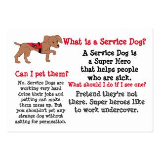 Preste serviços de manutenção à informação do cão cartão de visita grande