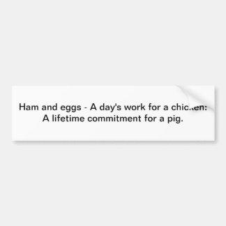 Presunto e ovos - autocolante no vidro traseiro adesivo para carro