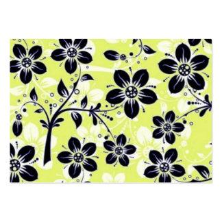 pretas de COM flores do padrão Cartões De Visita