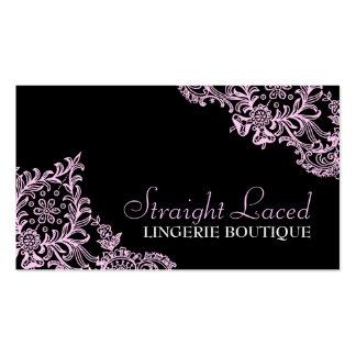 Preto 311 cor-de-rosa atado hetero cartões de visitas