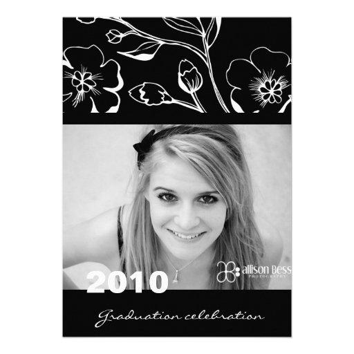 preto 311-Graduation luxúria & branco Convites Personalizados