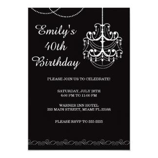 Preto adulto da festa de aniversário do convite do