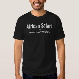 Preto africano do safari t-shirt