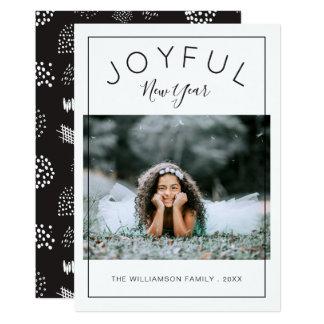 Preto alegre do cartão com fotos | do ano novo