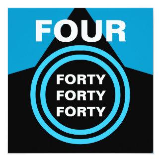 Preto azul moderno quatro oh B22 de partido de Convite