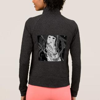 Preto & branco abstratos da sereia jaqueta