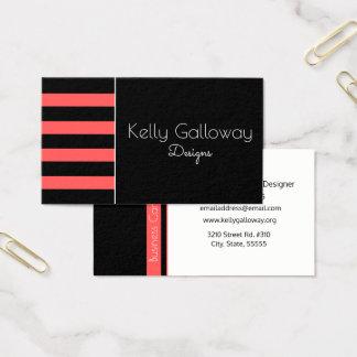 Preto & branco, cartão de visita vermelho quente