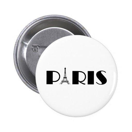 Preto & branco de Paris da torre Eiffel Boton