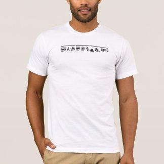 Preto branco do equilíbrio camiseta
