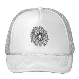 preto-branco-leão-vetor boné
