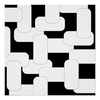 Preto & branco ligados pôster