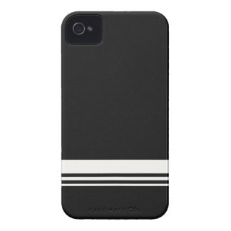 Preto & branco listra o capa de iphone 4 da fibra capa para iPhone 4 Case-Mate