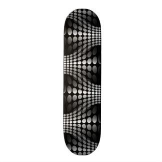 Preto & branco pontilhados do papel de parede das shape de skate 19,7cm