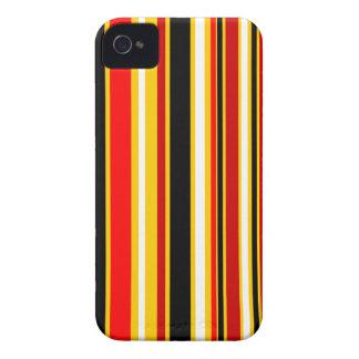 Preto branco vermelho amarelo das listras capas para iPhone 4 Case-Mate