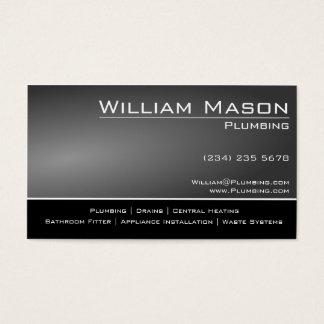 Preto & cartão de visita especializado cinzento do