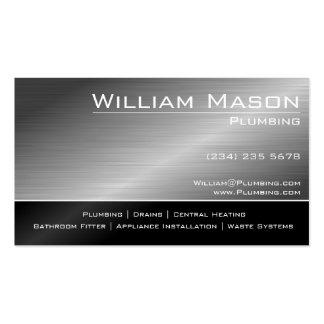 Preto & cartão de visita especializado de aço do c