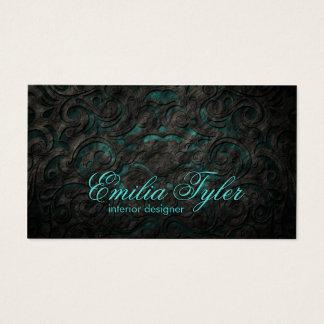 Preto & cartão do designer de interiores do