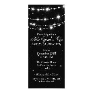 Preto Chain Sparkling da véspera de ano novo Convites
