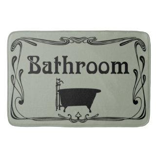 Preto cinzento da cuba do vintage do banheiro do tapete de banheiro
