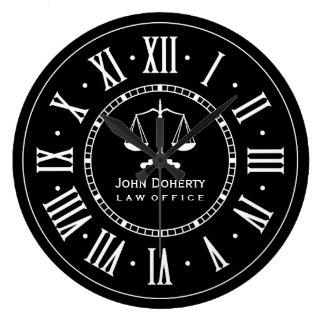 Preto clássico & branco do ESCRITÓRIO DE ADVOGADOS Relógios Para Paredes
