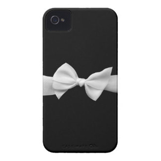 Preto com fita branca capinhas iPhone 4