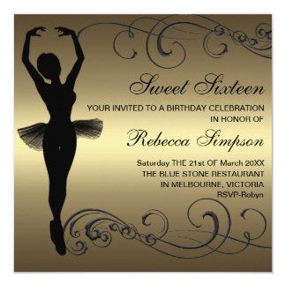 Preto & convite do aniversário da bailarina do