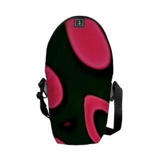 Preto cor-de-rosa fluorescente bolsas mensageiro