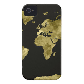 preto da aguarela do mapa do mundo capa para iPhone