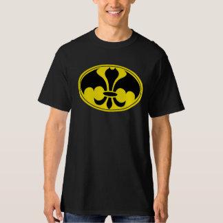 Preto da camisa do super-herói de Datman